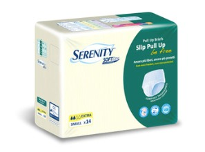PANNOLONE A MUTANDINA SERENITY PULL UP BE FREE SD EXTRA MEDIUM 14 PEZZI