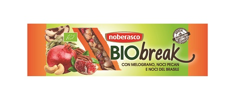 BIOBREAK BARRETTA MELOGRANO NOCI PECAN NOCI DEL BRASILE 35 G