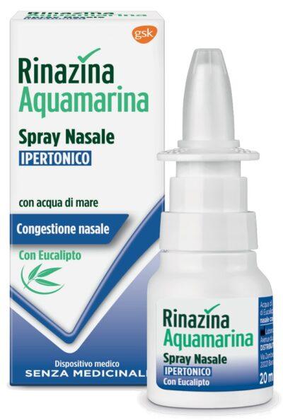 RINAZINA AQUAMARINA SPRAY NASALE IPERTONICO CON EUCALIPTO 20 ML