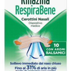 RINAZINA RESPIRABENE CEROTTI NASALI CON AROMI BALSAMICI CARTON 10 PEZZI