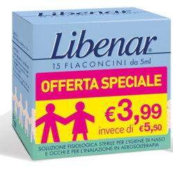 LIBENAR 15 FLACONCINI SOLUZIONE ISOTONICA 5 ML TAGLIO PREZZO