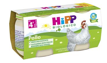 HIPP BIO HIPP BIO OMOGENEIZZATO POLLO 2X80 G