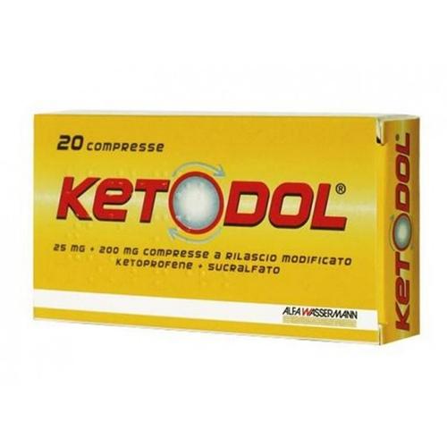 KETODOL*20CPR 25MG+200MG