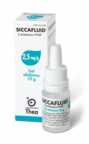 SICCAFLUID*GEL OFT 10G 2,5MG/G