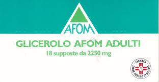 GLICEROLO AFOM*AD 18SUPP2250MG