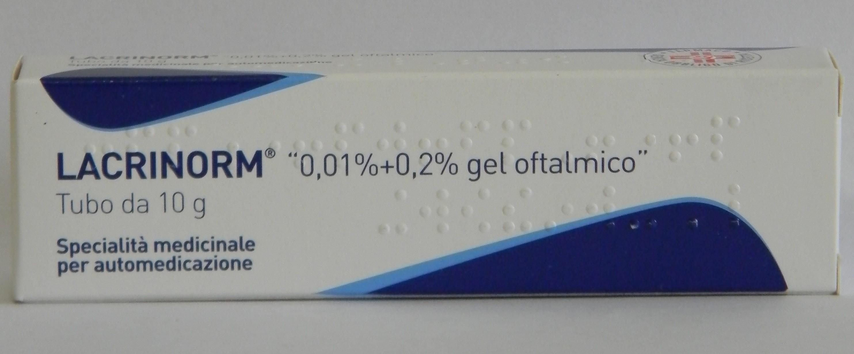 LACRINORM*GEL OFT 10G 0,01%